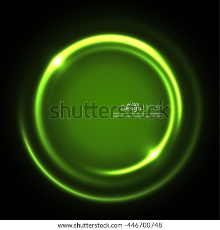 Abstract background with luminous swirling backdrop. Intersection curves. Glowing spiral. The energy flow tunnel. Vector. green.