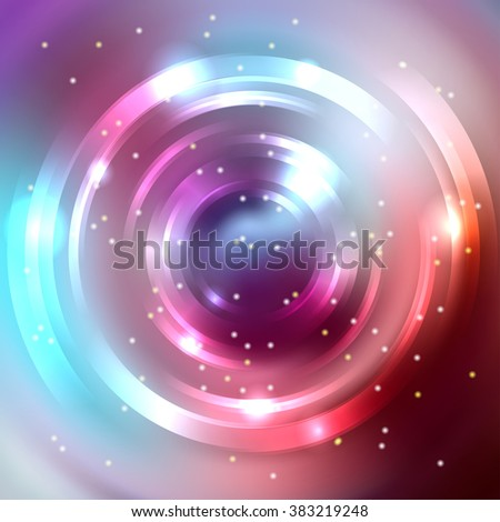 Abstract background with luminous swirling backdrop. Shiny swirl background.  Intersection curves. Pink, purple, brown, blue colors.  - stock vector