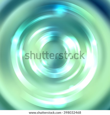 Abstract background with luminous swirling backdrop. Shiny swirl background.  Intersection curves. Green, blue, white colors.  - stock vector