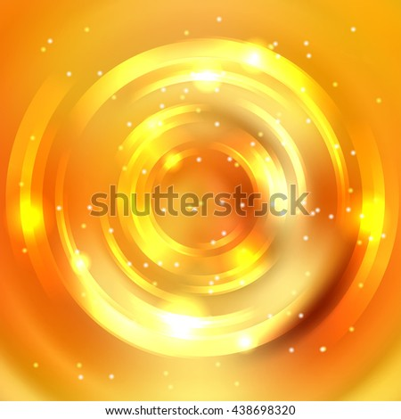 Abstract background with luminous swirling backdrop. Shiny swirl.  Intersection curves. Yellow, orange colors.  - stock vector