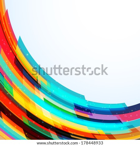 Abstract background with many bright transparent stripes