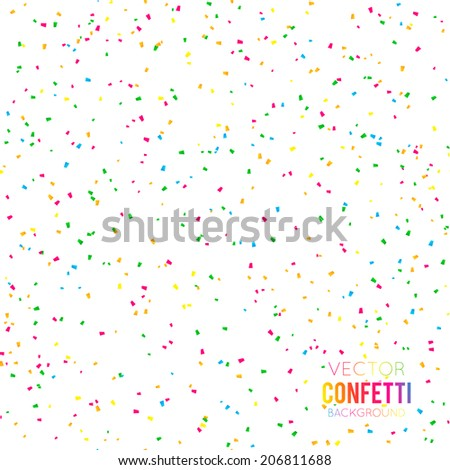 Abstract background with many falling tiny confetti pieces - stock vector