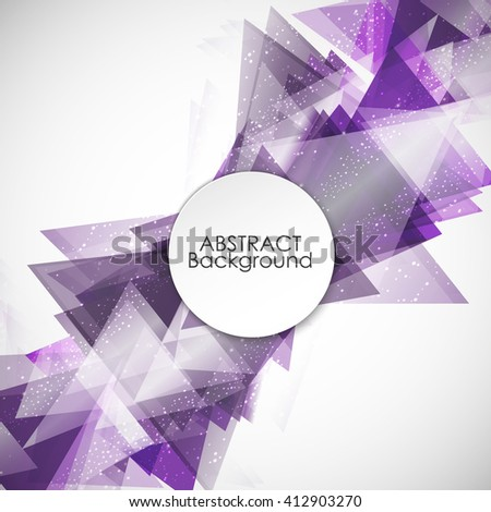 Abstract background with modern purple triangle.