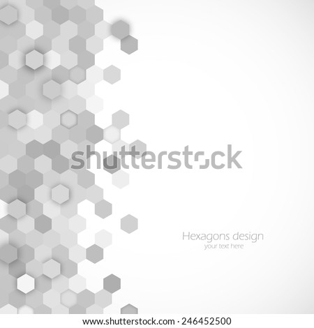 Abstract background with motion effect hexagon element - stock vector