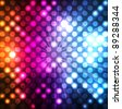 Abstract background with neon effects and colorful lights - stock vector