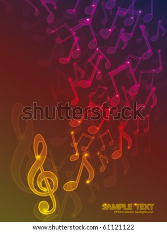 Abstract background with notes - stock vector