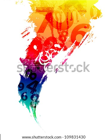 Abstract background with number - stock vector
