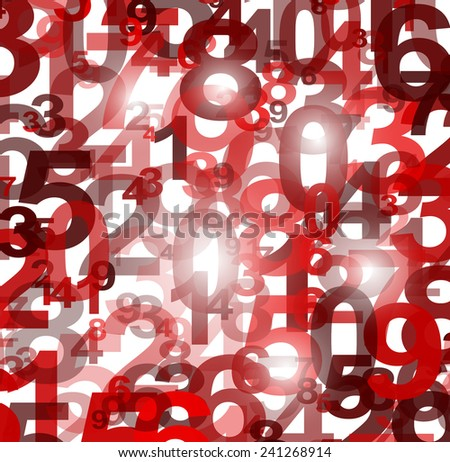 Abstract background with numbers illustration - stock vector