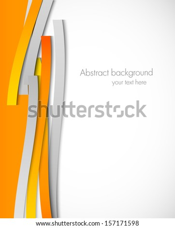 Abstract background with orange lines - stock vector