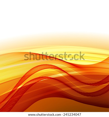 Abstract background with orange waves