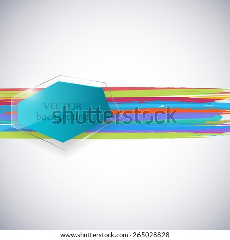 Abstract background with paint splashes. Vector illustration. - stock vector