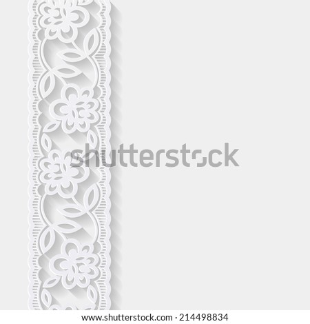 Abstract background with paper floral pattern. Vector illustration  - stock vector
