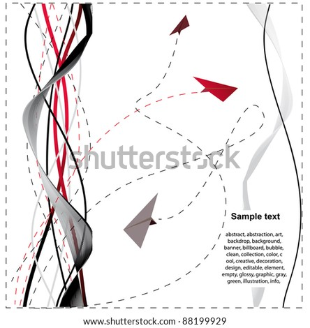 abstract background with paper planes - stock vector