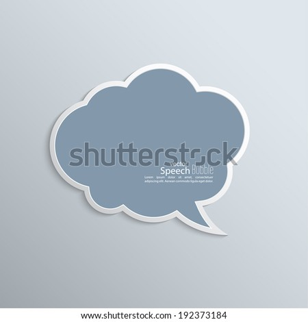 Abstract background with paper speech bubble vector. flat design
