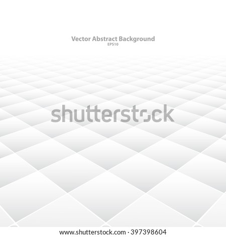Abstract background with perspective. White soft texture. Vector illustration eps10. - stock vector