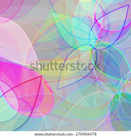 abstract background with petals - stock vector