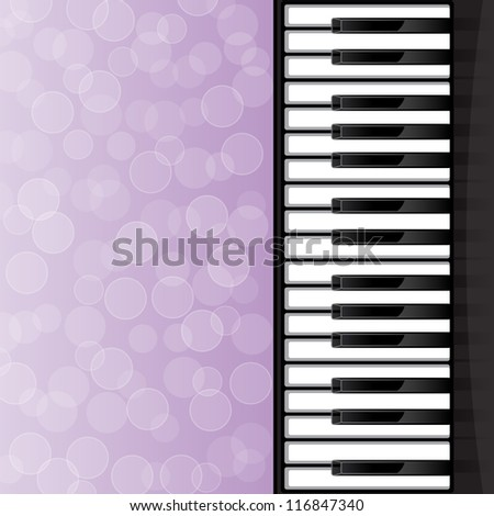 Abstract background with piano keys. EPS10 vector illustration.