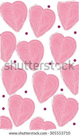 abstract background with pink heart and lines