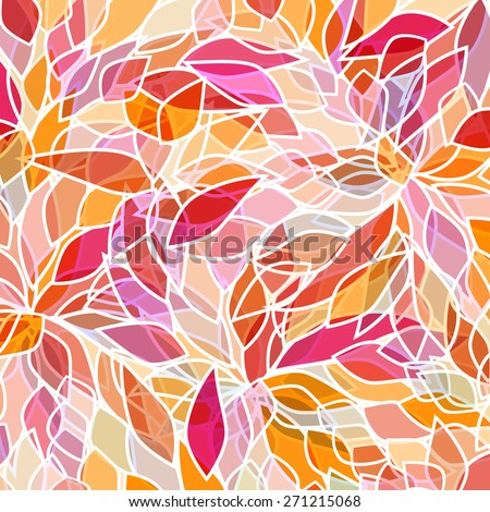 abstract background with pink petals - stock vector