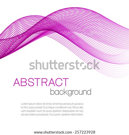 Abstract background with pink waves - stock vector