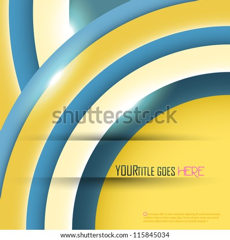 Abstract background with place for your text. Vector illustration. - stock vector