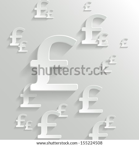 Abstract Background with Pound  Symbol. - stock vector