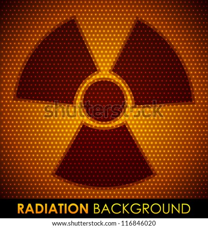 Abstract background with radiation symbol. Vector illustration. - stock vector