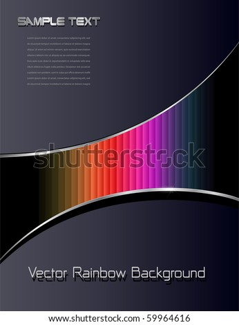 Abstract background with rainbow pattern, vector. - stock vector