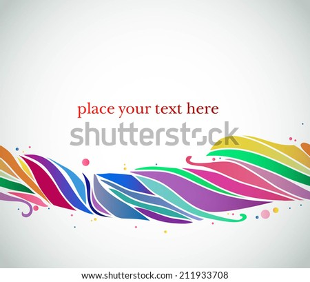 abstract background with rainbow rope  - stock vector