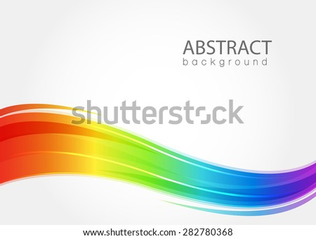 Abstract background with rainbow wave. Vector illustration. EPS 10
