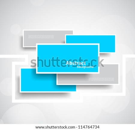 Abstract background with rectangles - stock vector