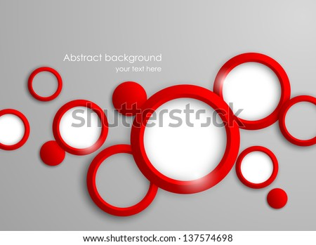 Abstract background with red circles - stock vector