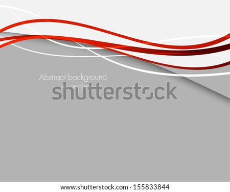 Abstract background with red lines - stock vector