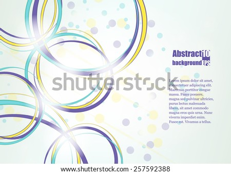 Abstract background with rings. Eps10 Vector illustration
