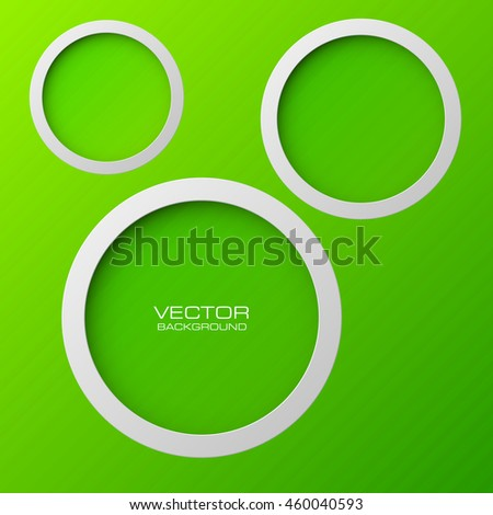Abstract background with round holes and the second bottom