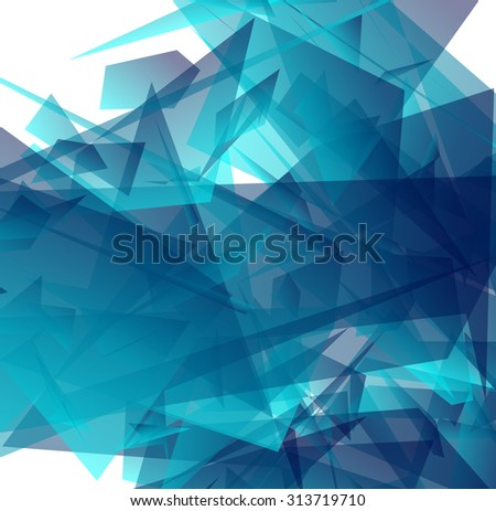 Abstract background with rounded shapes. Vector illustration. - stock vector