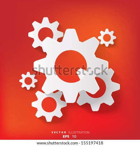 abstract background with settings web icon, flat design
