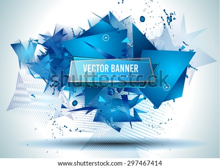 Abstract Background with Shapes Explosion For Cover, Flyers template, Brochure Layouts, Prnted Material, Business Cards, Magazine Page Patterns. - stock vector