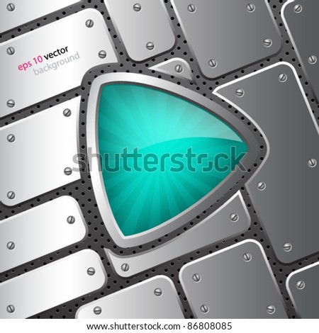 Abstract background with shield - stock vector