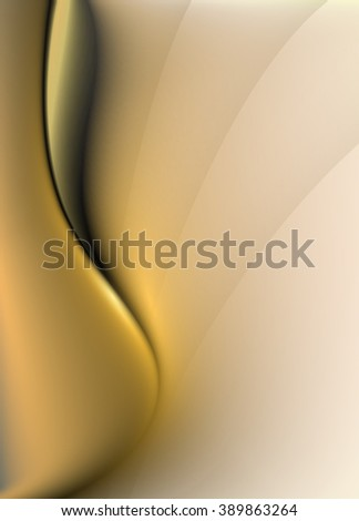 Abstract background with smooth lines, vector design - stock vector