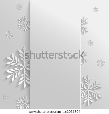 Abstract Background with Snowflakes - stock vector