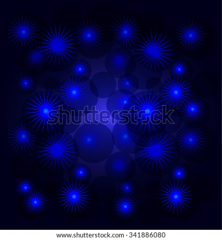 Abstract background with snowflakes and stars. EPS10 vector illustration. - stock vector