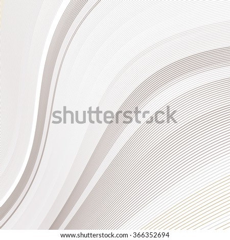 Abstract background with soft pale lines on white, vector smooth blue abstract waves, for cover book, brochure, flyer, leaflet, poster, magazine, website - stock vector