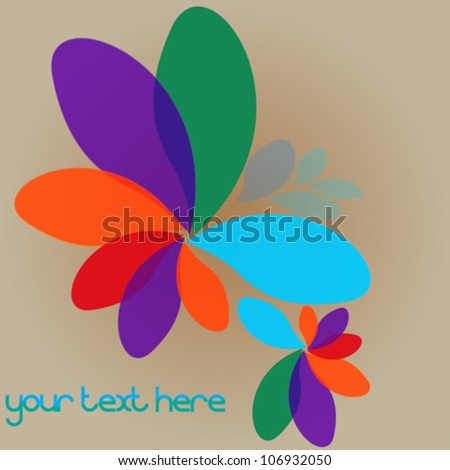 Abstract background with space for text - stock vector