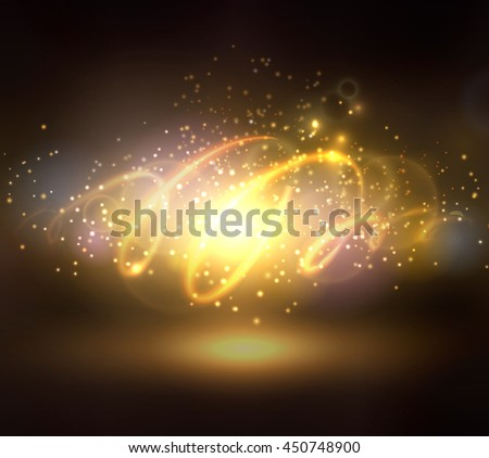 Abstract background with sparks lights and spiral could be used for Christmas or other events - stock vector