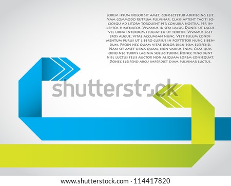 abstract background with special origami arrows - stock vector