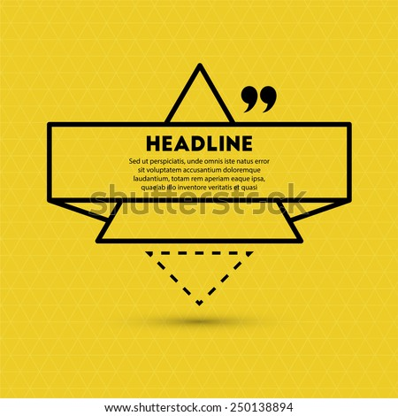 Abstract Background with Speech Bubble and Quote Icon. - stock vector