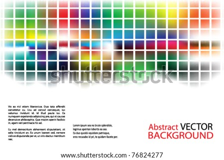abstract background with splashes of color and squares