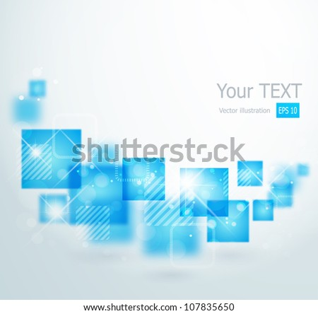 Abstract background with square shapes - stock vector