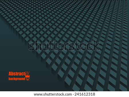Abstract  background with squares in perspective. Eps10 Vector illustration - stock vector